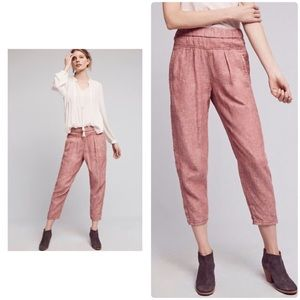 NWT Linen Joggers Anthropologie